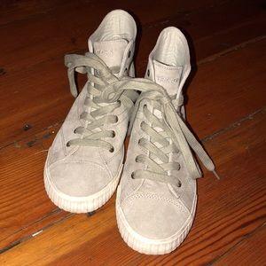 Tretorn Mint Suede Hightop Sneakers